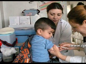 image-Syrian national campaign for vaccination against measles