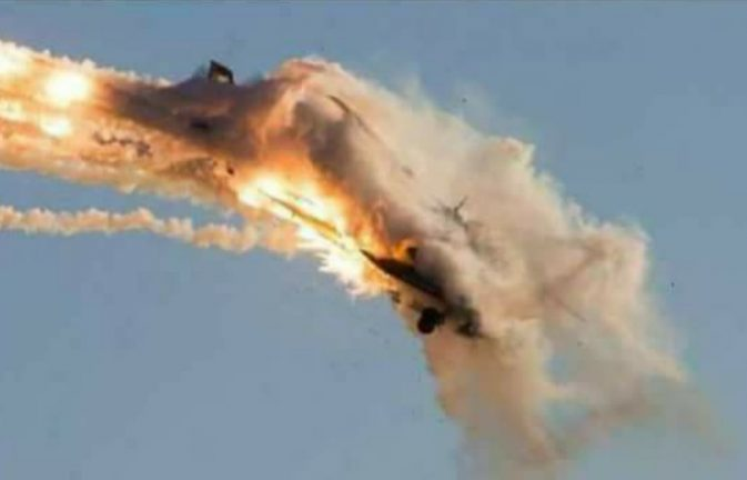 Syrian SAM 5 intercepts Israeli F-16, deployed to protect ISIS in Tadmor.