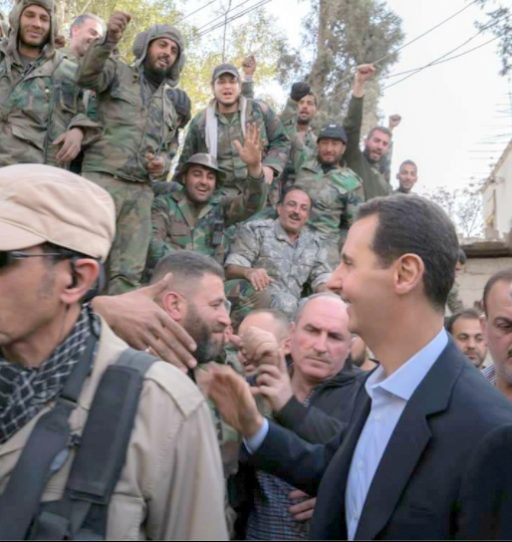 President Assad and members of the Syrian Arab Army.
