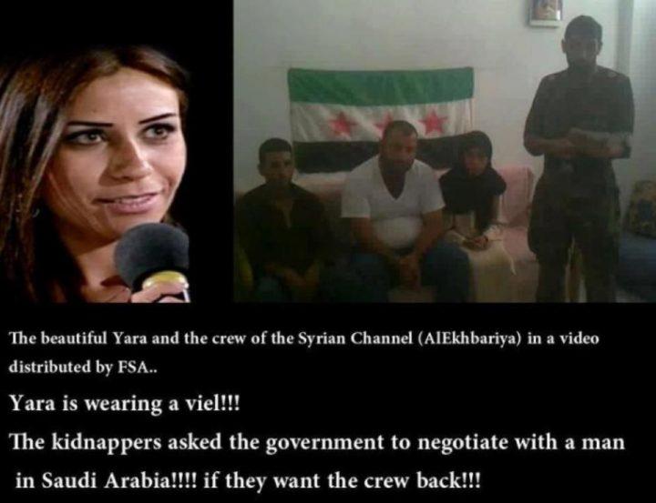 femicide -TV journalist Yara al Saleh & her crew were rescued by the SAA.