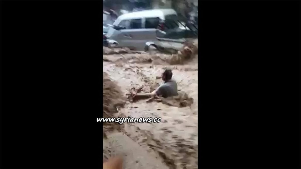 image-Flash Flooding in Damascus Syria 26 April 2018