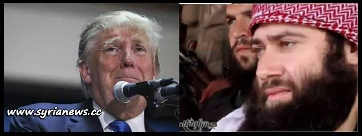image-Trump with Anti-Islamic Jaish Al-Islam Terrorists