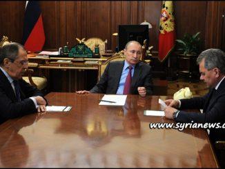 image-Russian President Vladimir Putin Minister of Foreign Affairs Sergey Lavrov Minister of Defense Sergey Shoygu