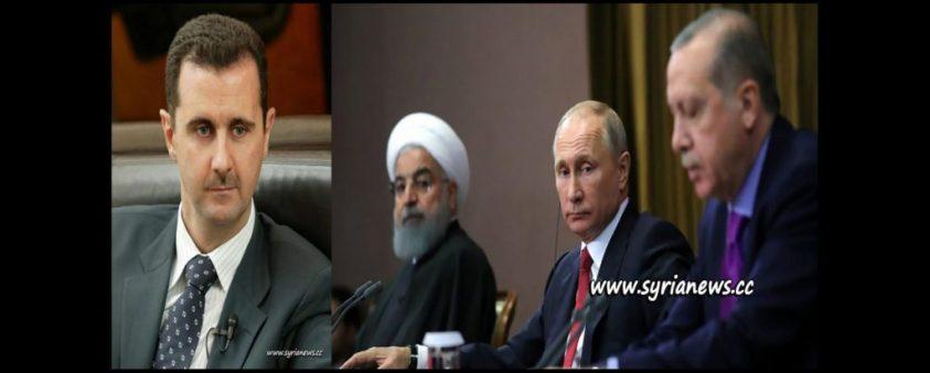 image-Bashar Al-Assad - Hassan Rouhani - Vladimir Putin - Recep Tayyip Erdogan