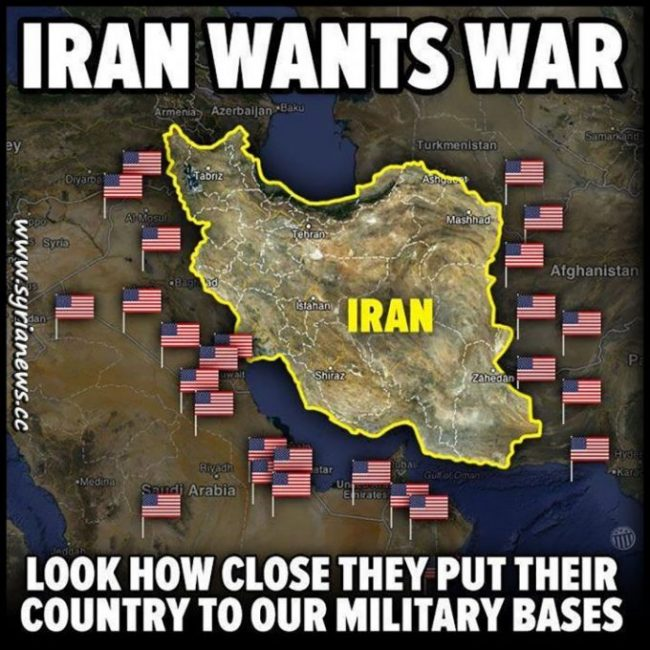Iran Places its Country Close to US Military Bases