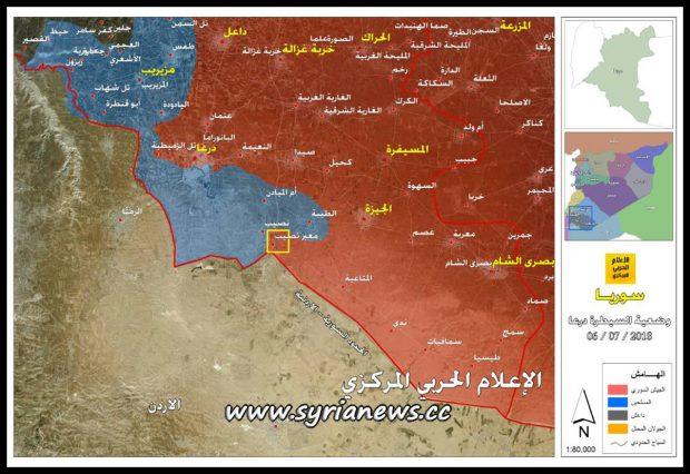 Nassib Border Crossing - Syria - Jordan - Daraa - Map by Central Media