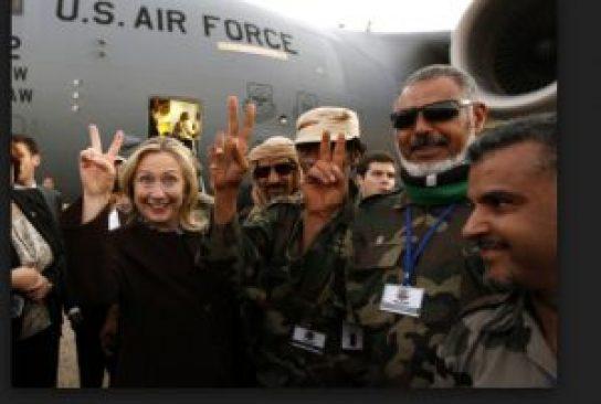 Clinton was also cheered by al Qaeda terrorists, in Tripoli
