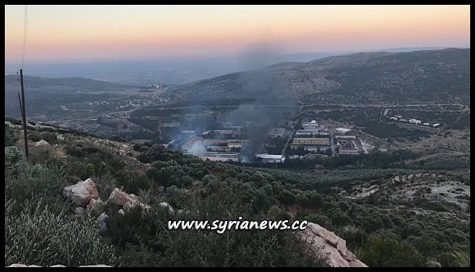 Israel Bombs Near Missyaf - Syria from Over Lebanon