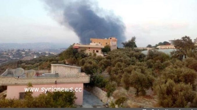 Syria Air Defense intercepts Israeli newest aggression Masyaf - wadi oyoun - Hama, Israel bombing