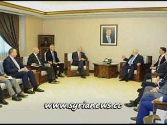 Syria: Waleed Moallem Receives UN's Special Envoy Stefan De Mistura