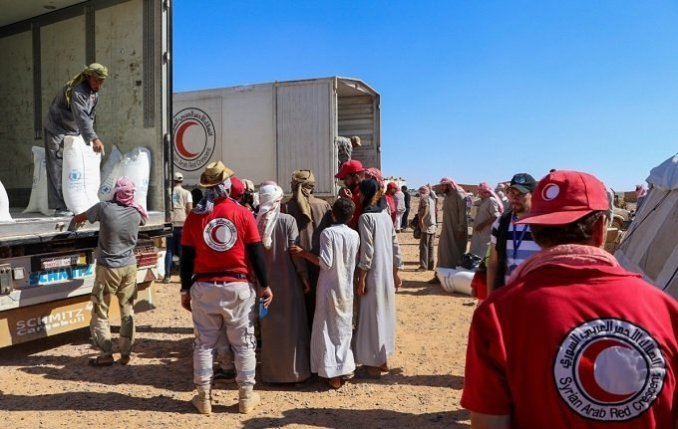 SARC Humanitarian aid delivery