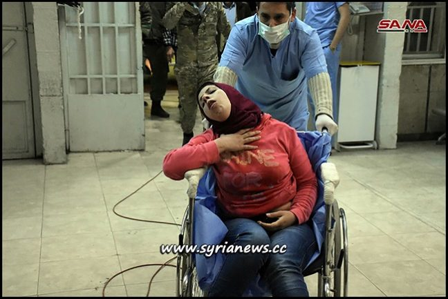 Dozens of Civilians Rushed to Aleppo Hospitals suffering from Asphyxiation