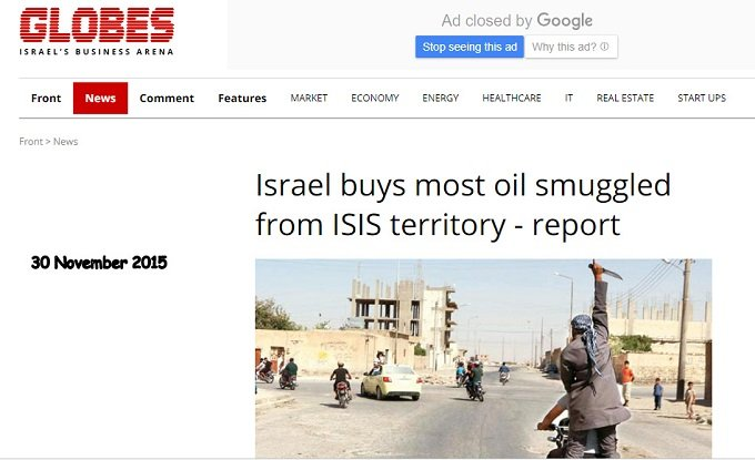 globes israel buys most of isis stolen oil