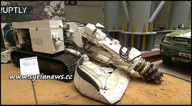 Terrorists Tunnel Bore Machine on display in Russian MoD Museum