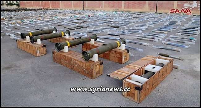 Weapons and Munition left by Terrorists in Southern Syria