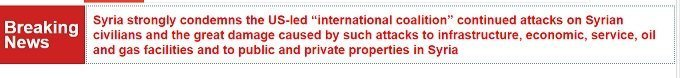 breaking ticker on criminal coalition destruction of infrastructure