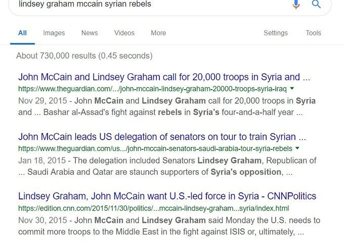 old search on illegals mccain & graham on syria