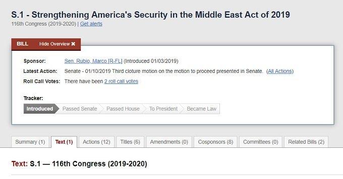 S1 (2019) US legislation