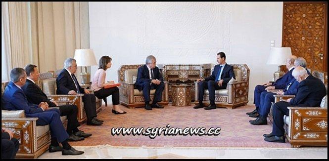 Syrian President Dr. Bashar Assad Receives Russian Envoy