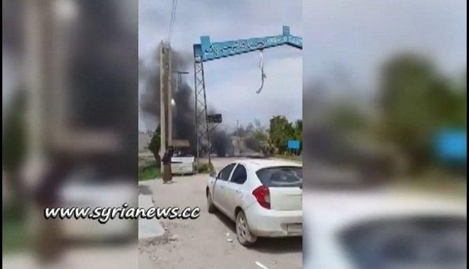 Protests against US-sponsored SDF northwest of Deir Ezzor احتجاجات ضد قسد شمال غرب دير الزور