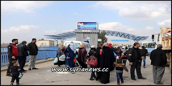 Syrian Refugees Returning from Jordan through Nassib Border Crossing