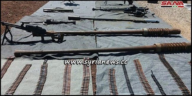 US and Israeli Weapons found in Terrorists former Dens in Quneitra Countryside