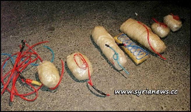 C-4 Explosives Found in the Booby-Trapped Vehicle in Al-Zahraa District - Homs