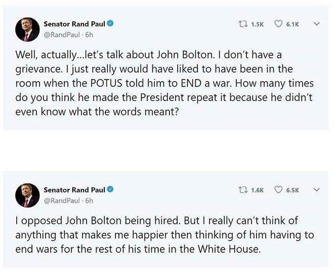 Senator-Rand-Paul-tweet-on-Trump-tweet-withdrawl-of-US-troops-from-Syria-Swamp
