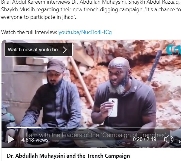 Saudi terrorist Muhaysini with Bilal Abdul Kareem for western mainstream media MSM