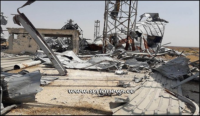 Nusra Front terrorists blow up grain silos in Tal Al-Sakhr Idlib Countryside
