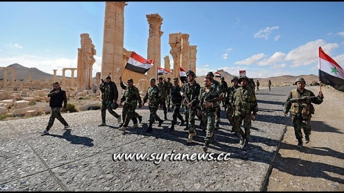 SAA Syrian Arab Army in Palmyra Tadmor