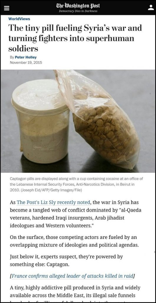 Washington Post WaPo Propaganda Report about Captagon Pills in Syria