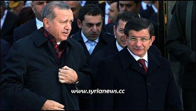 Erdogan and Davutoglu Turkish AKP party split