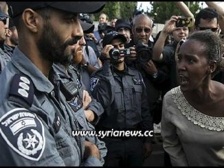 Jews Falashas protests against the inhumane and racist treatment they receive in Israel