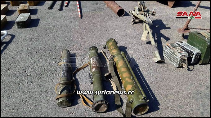 More weapons left behind by NATO terrorists in Ltamenah Hama countryside - Idlib