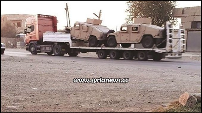 US Trump sends weapons and vehicles to pkk ypg sdf asayish kurds syria