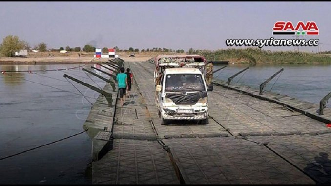 Deir Ezzor new floating bridge - Syria