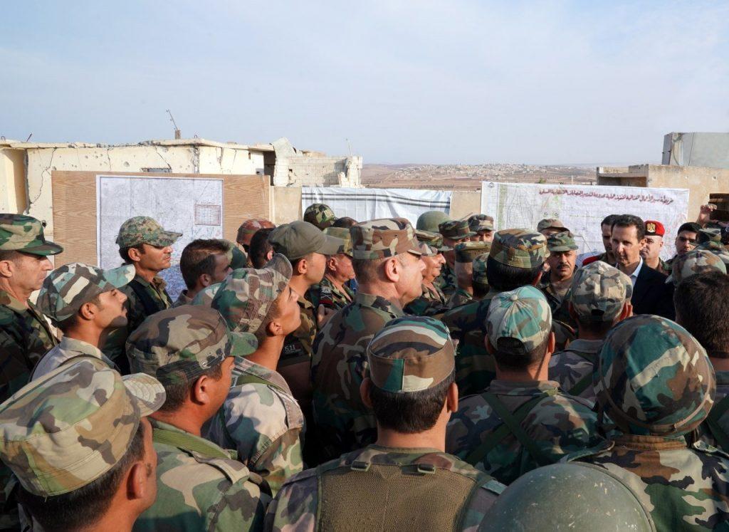 Assad with SAA in Idlib