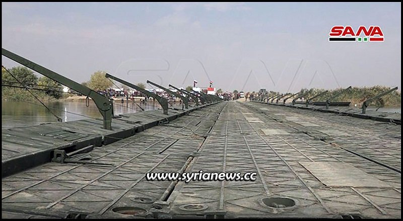 syria new floating bridge deir ezzor