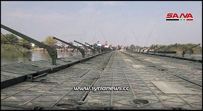 syria new floating bridge deir ezzor
