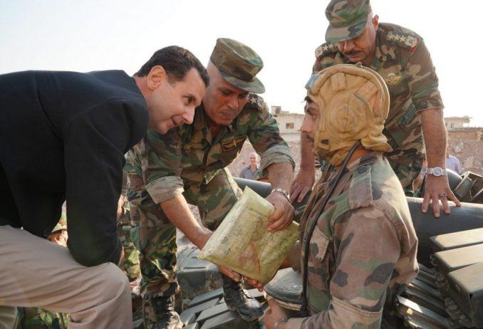 Assad in Idlib