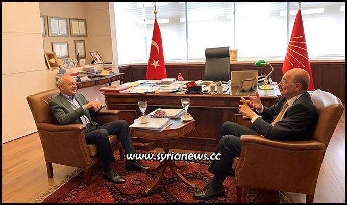 Turkey CHP Party Leader Kemal Kılıçdaroğlu Kilichdaroglu with Al Mayadeen Husni Mahali