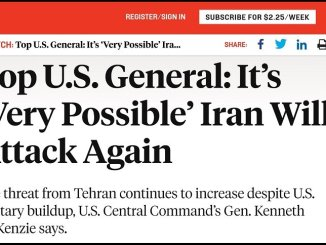 US Top General McKenzie Warmongering about Iran