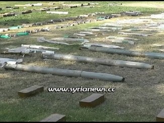 Weapons and munition left behind by terrorists in countrysides of Damascus Hama Daraa