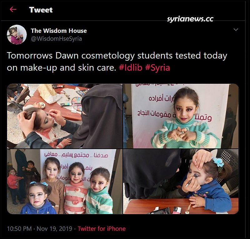 WisdomHseSyria Tweet Idlib Children Make up