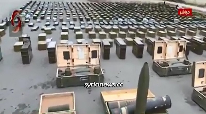 Large quantities of weapons, munition, and drugs left behind by NATO terrorists