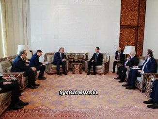 President Assad Receives Russian Delegation about Reconstruction Projects in Syria