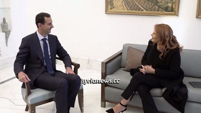 Syrian President Bashar Assad interview with Italian Rai News 24 Media