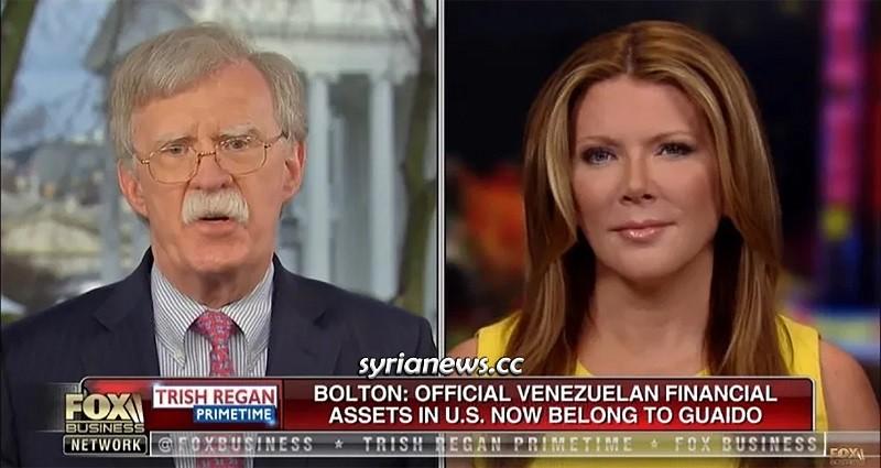 Bolton stealing Venezuelan Assets in the USA