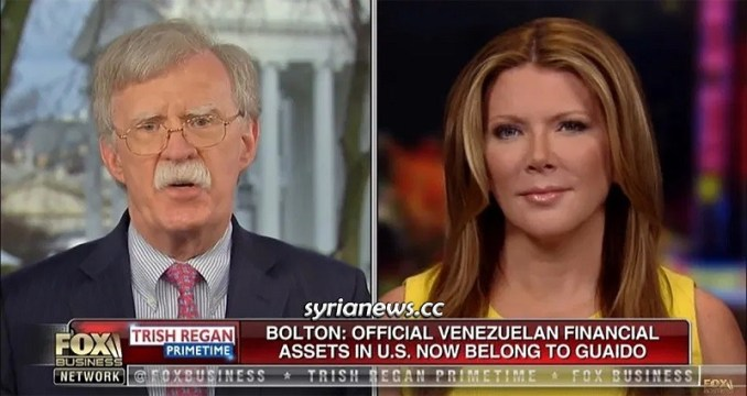 Bolton stealing Venezuelan Assets in the USA
